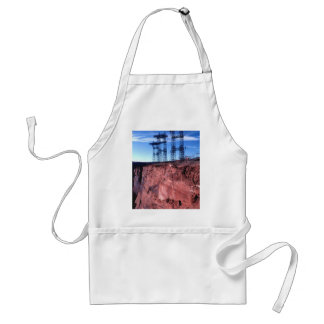 Red cliff Power lines Adult Apron