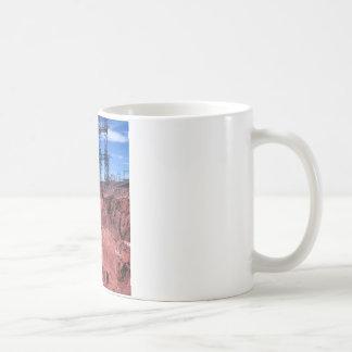 Red cliff Power lines Coffee Mug
