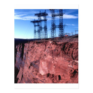 Red cliff Power lines Postcard