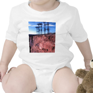 Red cliff Power lines Shirts