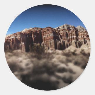 Red Cliffs Classic Round Sticker