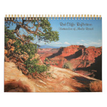 Red Cliffs Reflections-paintings of Canyonlands Calendar