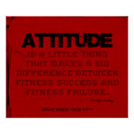 Red Cloth Black Thread Fitness Attitude Poster