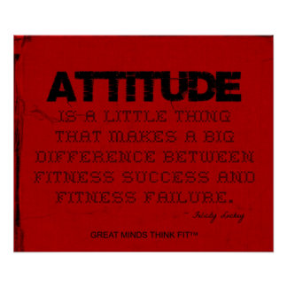 Red Cloth Black Thread Fitness Attitude Poster