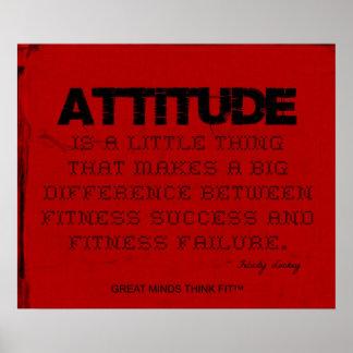 Red Cloth Black Thread Fitness Attitude Print