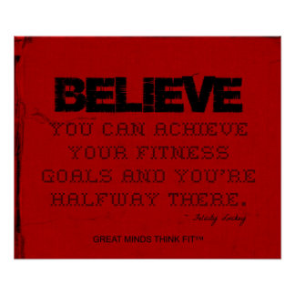 Red Cloth Black Thread Fitness Believe Poster