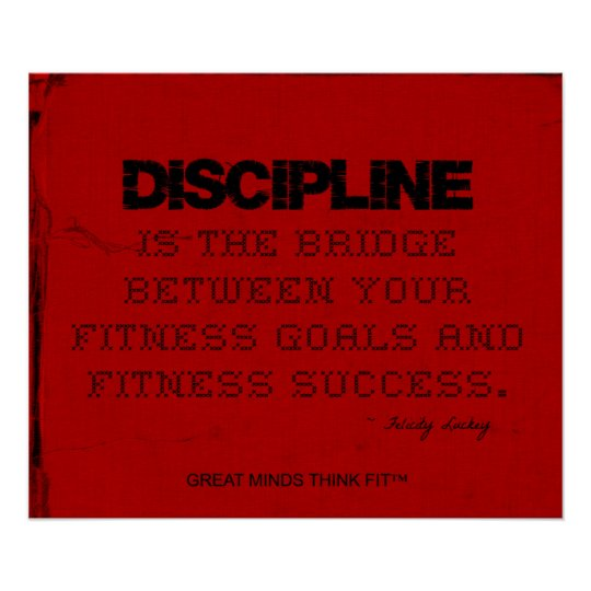 Red Cloth Black Thread Fitness Discipline Poster