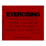 Red Cloth Black Thread Fitness Exercising Poster