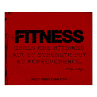 Red Cloth Black Thread Fitness Motivation Posters