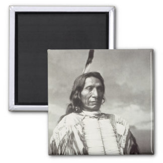 Red Cloud Chief (1822-1909) 1880 (b/w photo) 2 Inch Square Magnet