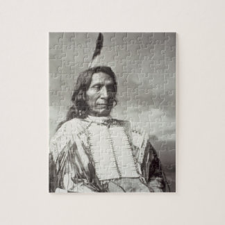 Red Cloud Chief (1822-1909) 1880 (b/w photo) Puzzle
