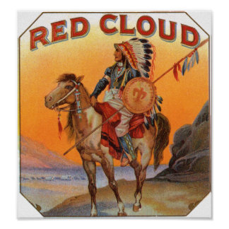 Red Cloud Cigar Label Poster