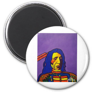 Red Cloud n by Piliero Magnet