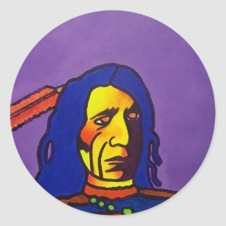 Red Cloud n by Piliero Classic Round Sticker