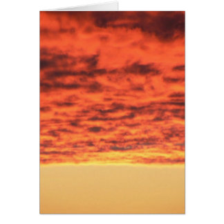 Red Clouds Fire On Sky Greeting Card