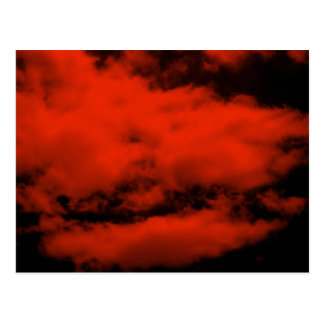 Red Clouds Post Card
