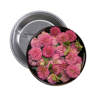 Red Clover Blossoms Buttons