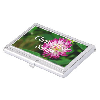 Red Clover Business Card Case