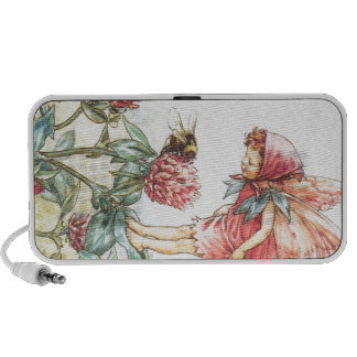 Red Clover Fairy Notebook Speakers
