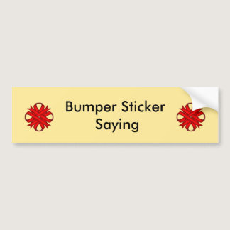 Red Clover Ribbon Bumper Sticker