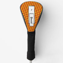 Red Clover Ribbon by Kenneth Yoncich Golf Head Cover