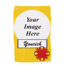 Red Clover Ribbon by Kenneth Yoncich Golf Towel