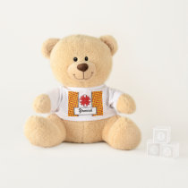 Red Clover Ribbon by Kenneth Yoncich Teddy Bear