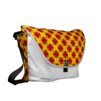 Red Clover Ribbon Courier Bag