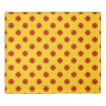 Red Clover Ribbon Duvet Cover