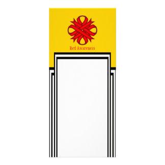 Red Clover Ribbon Rack Card