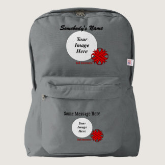 Red Clover Ribbon Template Backpack