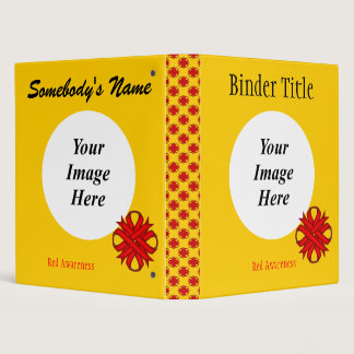 Red Clover Ribbon Template Binder