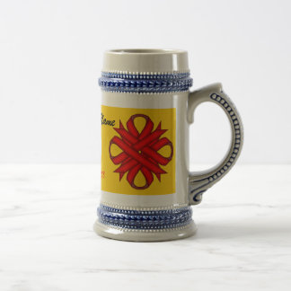 Red Clover Ribbon Template by Kenneth Yoncich Beer Stein