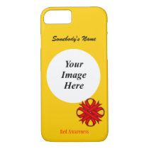 Red Clover Ribbon Template by Kenneth Yoncich iPhone 8/7 Case