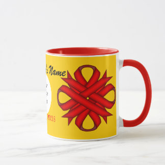 Red Clover Ribbon Template by Kenneth Yoncich Mug