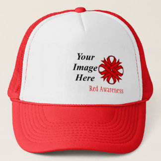 Red Clover Ribbon Template by Kenneth Yoncich Trucker Hat