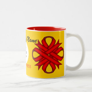 Red Clover Ribbon Template by Kenneth Yoncich Two-Tone Coffee Mug