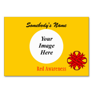 Red Clover Ribbon Template Card