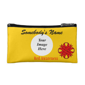 Red Clover Ribbon Template Cosmetic Bag