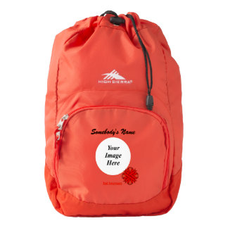 Red Clover Ribbon Template High Sierra Backpack
