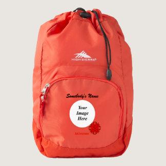 Red Clover Ribbon Template High Sierra Backpack