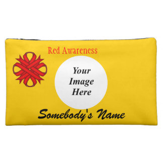 Red Clover Ribbon Template Makeup Bag