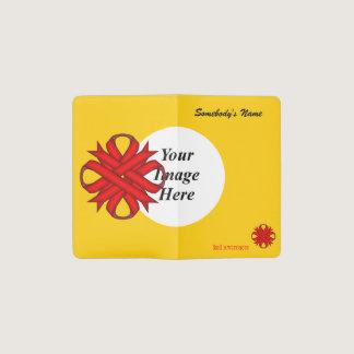 Red Clover Ribbon Template Pocket Moleskine Notebook