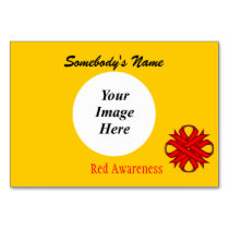 Red Clover Ribbon Template Table Number