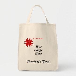 Red Clover Ribbon Template Tote Bag
