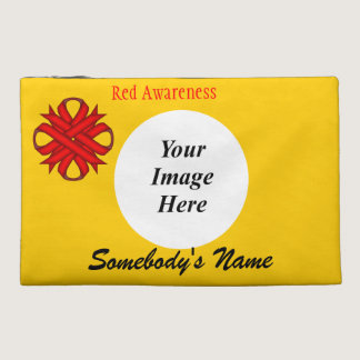 Red Clover Ribbon Template Travel Accessory Bag