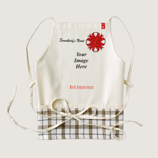 Red Clover Ribbon Template Zazzle HEART Apron