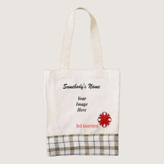 Red Clover Ribbon Template Zazzle HEART Tote Bag