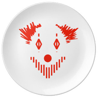 Red Clown Plate