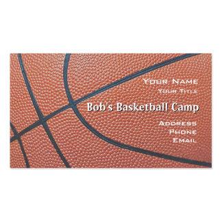 Red coach_textured campo del look_hoop del balonce tarjetas de visita